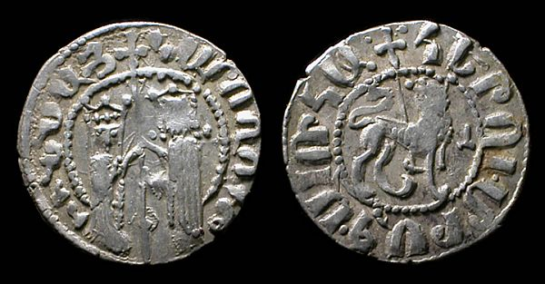 Srebrne monety Armenii Cylicyjskiej, XIII wiek.