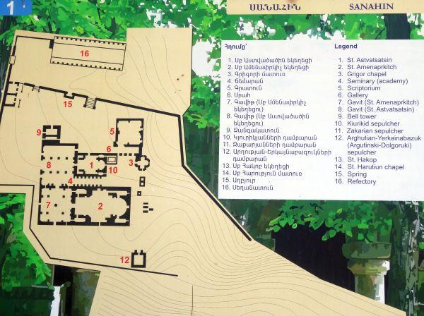 Plan klasztoru Sanahin