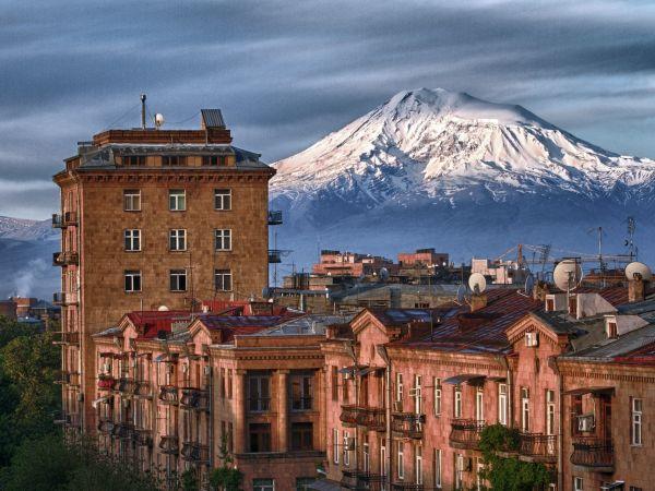 Erywań. Widok na górę Ararat